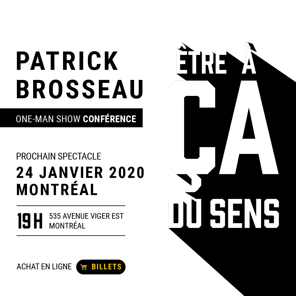 Conférence Patrick Brosseau
